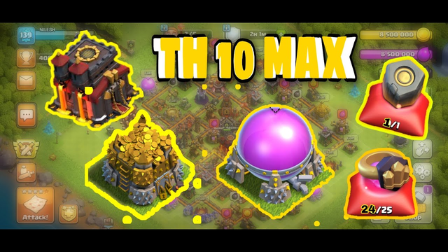 CLASH OF CLANS ROAD TO TOWNHALL 10 MAX