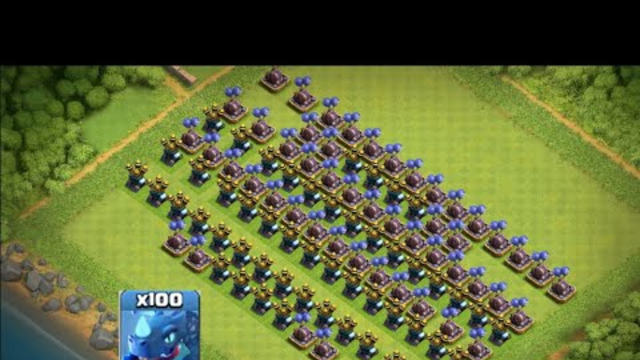 100 MAX TROOPS VS AIR DEFENCE AND AIR BOMB-CLASH OF CLANS