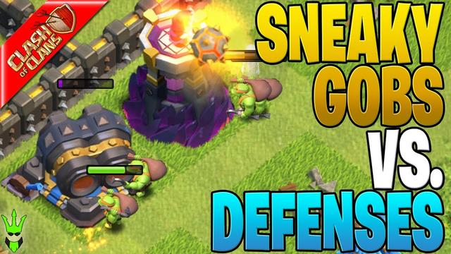 SNEAKY GOBLINS DESTROY DEFENSES?! - Clash of Clans