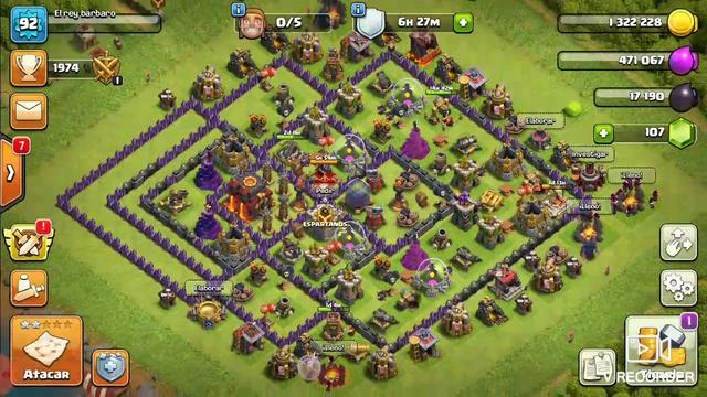 Clash of clans aldea oscura gameplay walkthrough