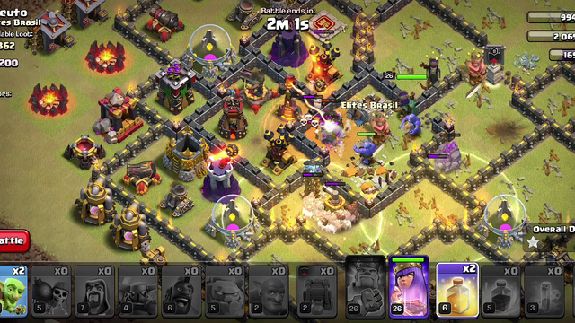 Clash of Clans  Live War attack  Th10 GoHO 3 star MuSt!