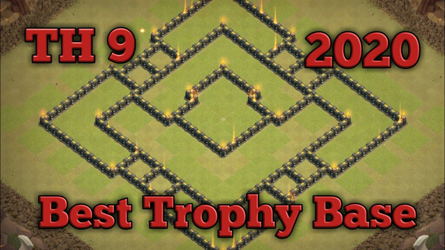TH 9 Best War Base - Clash Of Clans
