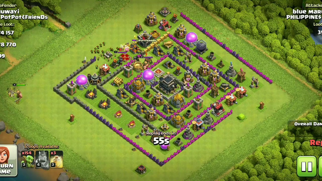 CLASH OF CLANS | DEFENCE | TOWN HALL 9 | KNOWLEDGE LAKE