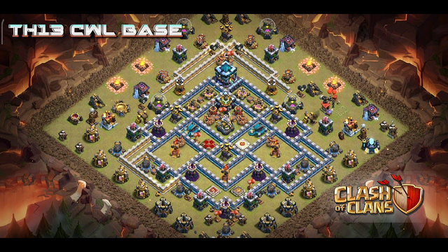 TH13 New Elite CWL Base with link (Replay video in description) | Clash of clans | April 2020