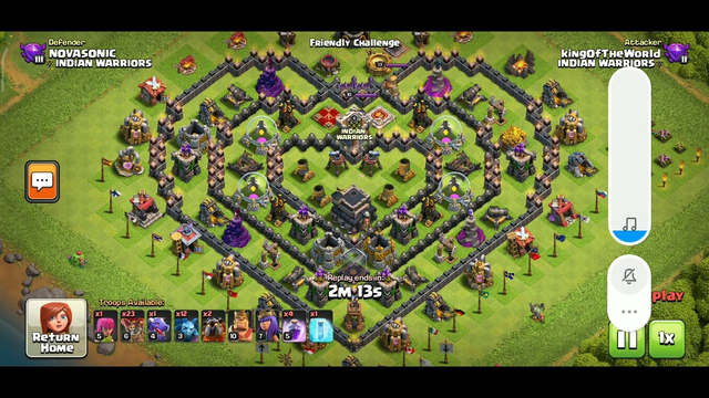 Clash of Clans/ Best strategic town hall 9 defence against max loons and lava hounds