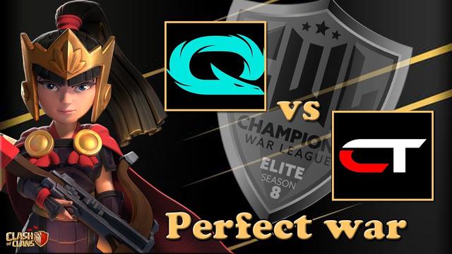 Perfect War in CWL Elite| QLASH vs !CruncHTimE! TH13 Clash of Clans