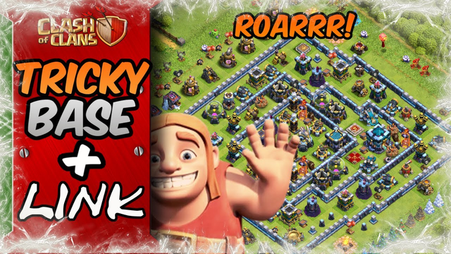 *TRICKY* TH13 War Base | Unbeatable TH13 Custom Design With Link | Clash of Clans