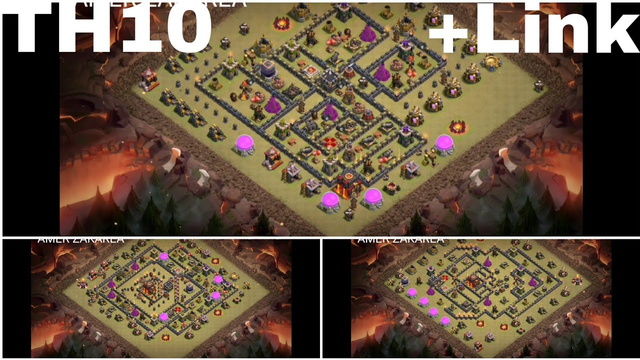 TOP 9 BEST WAR BASE TH 10 +LINK CLASH OF CLANS