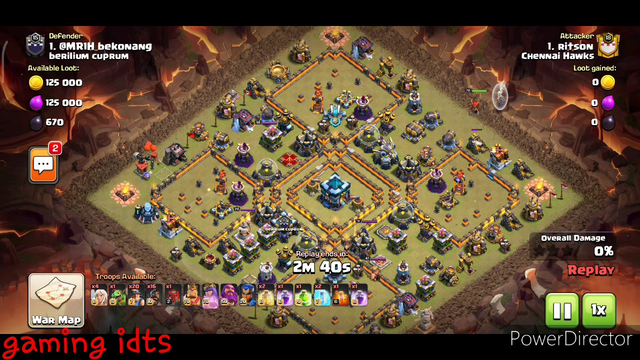 Clash of clans #coc box base wash out #miner & #hogs attack