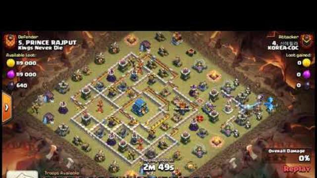 TH12 Unique War Base 3 Star Attack | Attack Strategy | Clash Of Clans