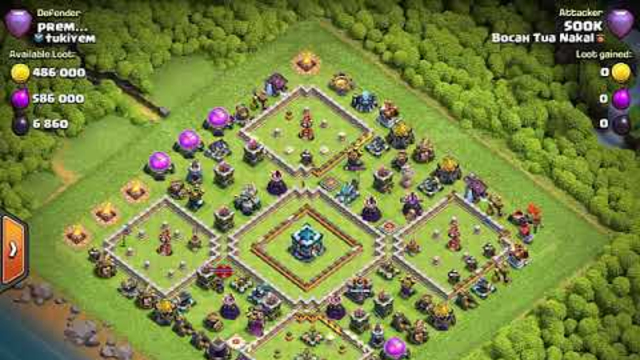 CLASH OF CLANS - Attack Strategy - Yeti Witch Bat - 3x Star - Block Base