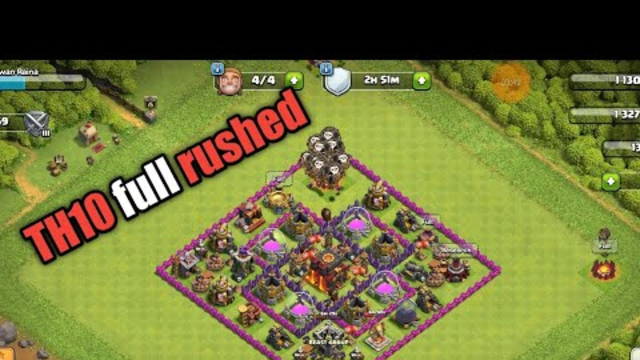 TH10 FULL RUSH bASE ! CLASH OF CLANS