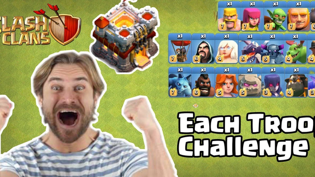 What Happens If We Do Every Troop Challenge || Clash Of Clans || 2020 ||
