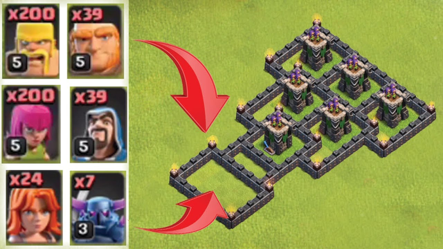 Clash Of Clans -  Defense Comparison - TH8 Ground Troops VS TH9 Level 11 archer tower Who Will Win ?