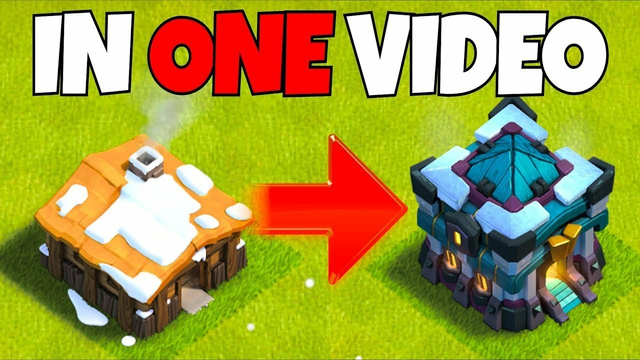 GEM TO MAX! Town Hall 1 To 13! Clash Of Clans Gems Rush! In One Video
