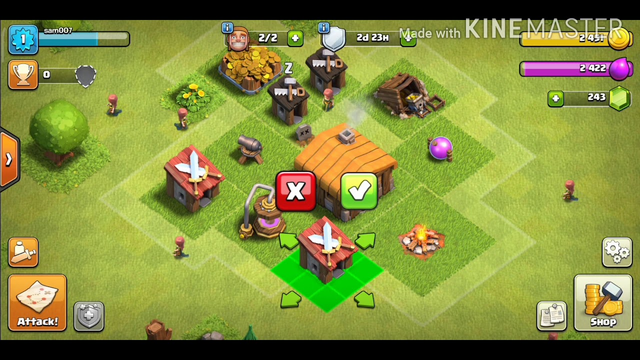 Clash of clans th 1 to th 2 gameplay