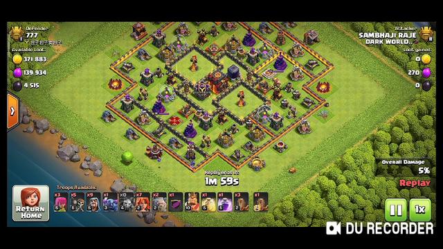 Th8 titan 2 attack on max Th 13 attacks   clash of clans