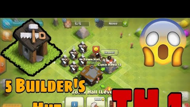 BOT :- 5 Builder's hut on town hall 1 in clash of clans (coc) || Ghost account of coc in 2020