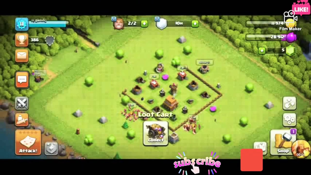 clash of clans townhall 1 to 4 learning part 1 (e)