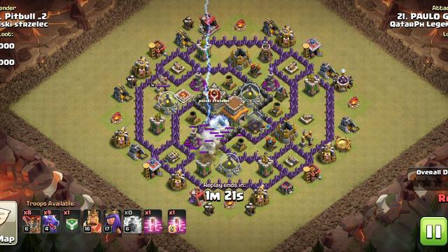 Clash of clans, th8 atak