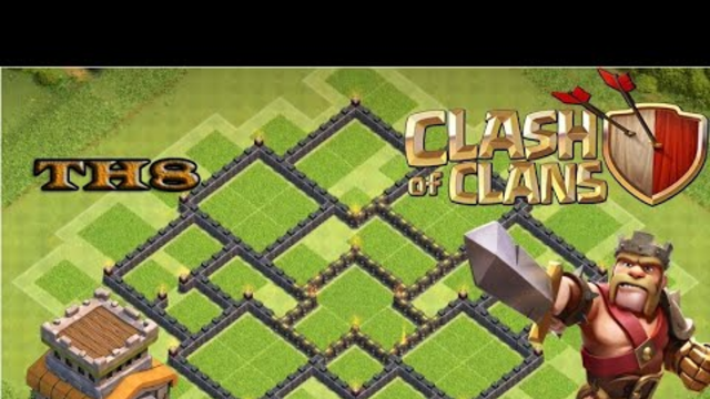 Clash of Clans - Base TH8 Hybrid / KaZe
