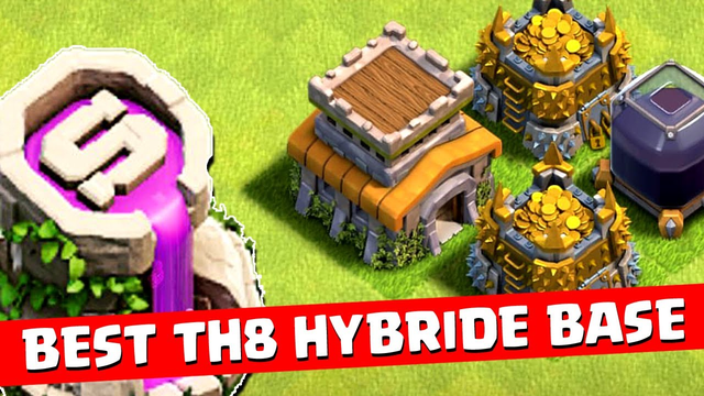 NEW BEST! Town Hall 8 (TH8) Hybrid Base 2020 | TH8 Base with COPY LINK - Clash of Clans