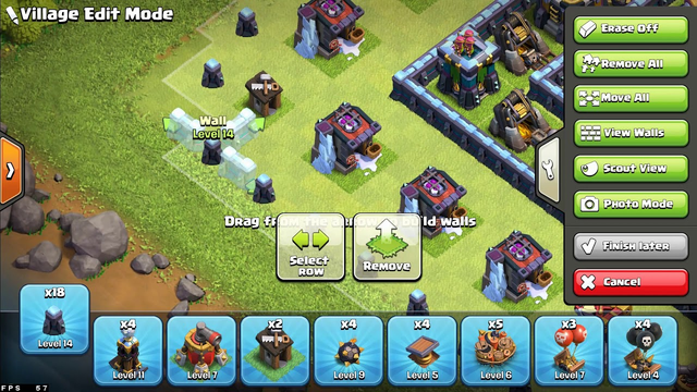 Clash of Clans|Private Server|Base Build|TH1 to TH13 Timelapse Part 2