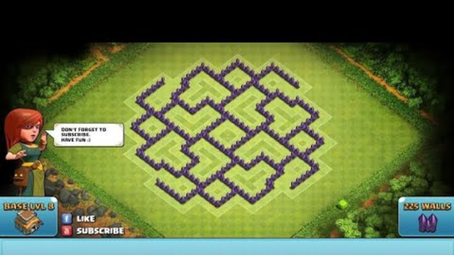 Clash Of Clans   Best TownHall 8 Ani Hog Trophy/ Warbase!