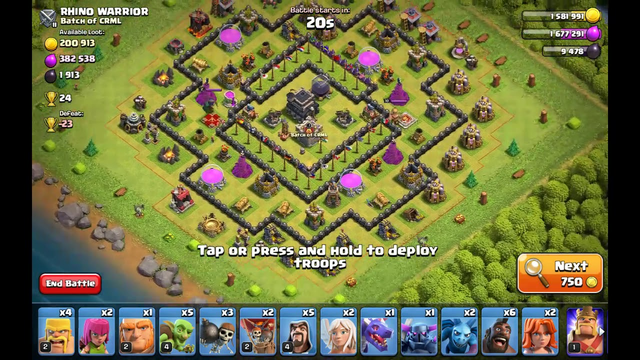 How to battle in multiplayer mode in clash of clans (tips for th 1 to 9)