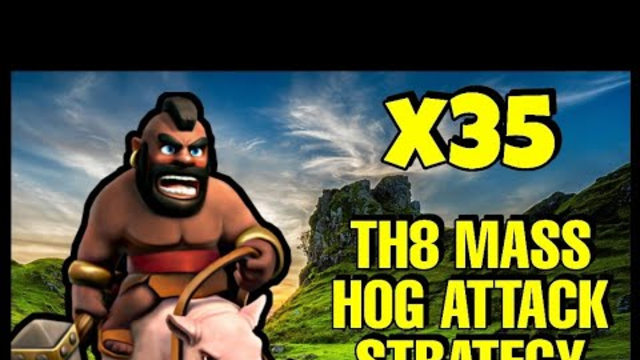 Th8 Mass Hog Attack Strategy 2020   Clash of Clans - Coc