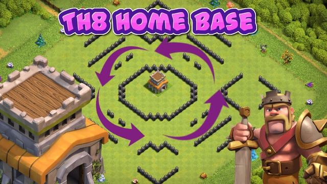 II New TownHall 8 Home Base Layout (w/link) II @ClashWithDuplex - Clash of Clans