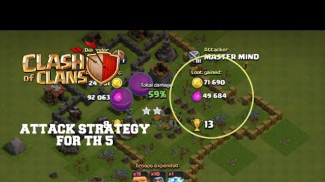 TOWN HALL 5 ATTACK STRATEGY | CLASH OF CLANS