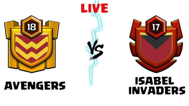 AVENGERS vs ISABEL INVADERS  Live Clan War Clash of Clans - COC