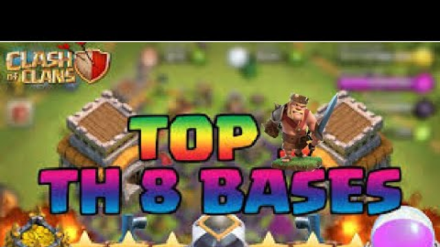 Town hall 8 Clash of Clans base design