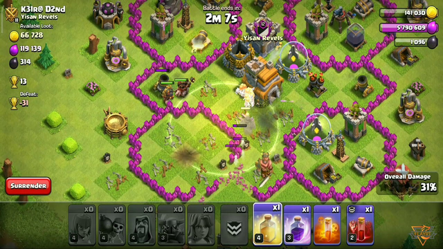 Clash of clans Town hall 8 best attack strategy