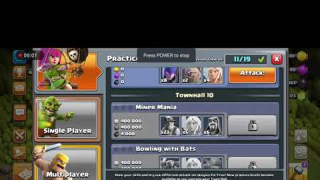 Clash Of Clans townhall 8 practice match / Whiral power / Anish The Gamer