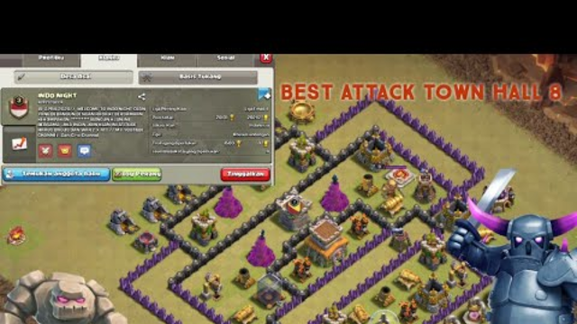 BEST ATTACK TOWN HALL 8 MANTAPPP!! - CLASH OF CLANS INDONESIA
