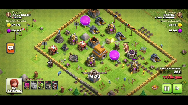 How to attack for TH 5 Clash of Clans