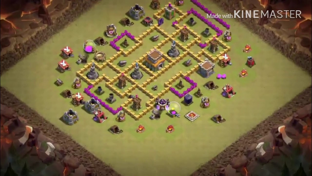 CLASH OF CLANS TH8 WAR BASE WITH COPY LINK