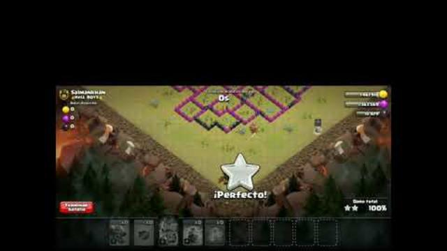 En mi cuenta th8, atacando con dragones,/ Clash of clans.