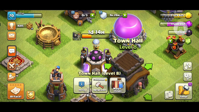 Clash of Clans - Road to max Town hall 8