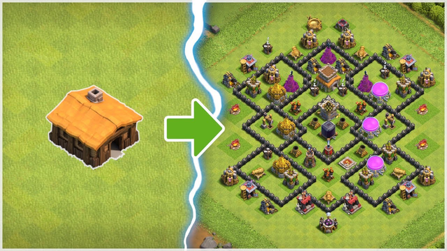(BEAUTIFUL) TIME LAPSE VIDEO - TH1 to TH8 - Clash of Clans (Part 1)