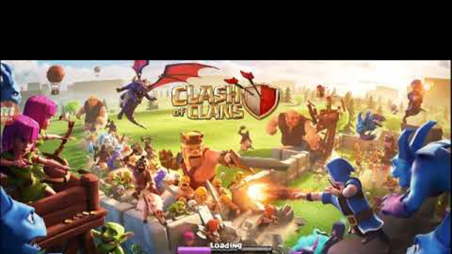 Clash of clans attacking on a village