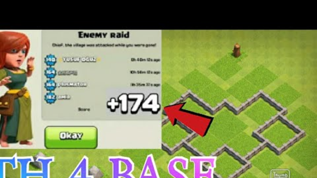 Clash of clans - townhall 4 best defence base with link