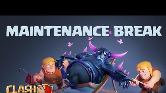 Maintenance Break No Update-Clash Of Clans
