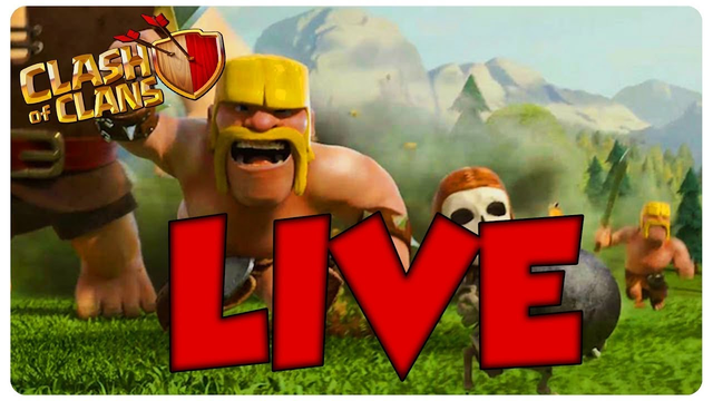 Watch me play clash of clans!!! TH 8 LIVE