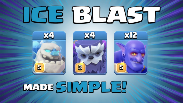 ICE BLAST = A BIT TOO POWERFUL!!! Town Hall 13 (TH13) Attack Strategy - Clash of Clans