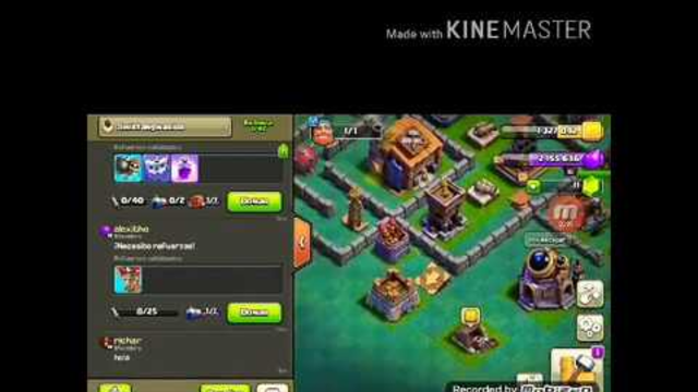 Mi primer ataque en youtube es un pleno (clash of clans)