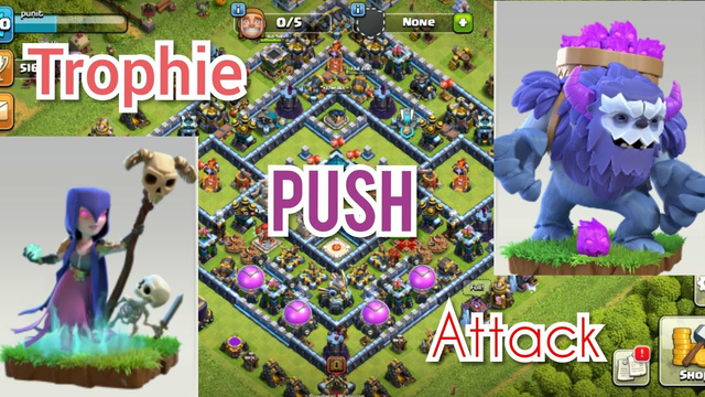 Th13 trophie push attack#Clash of clans