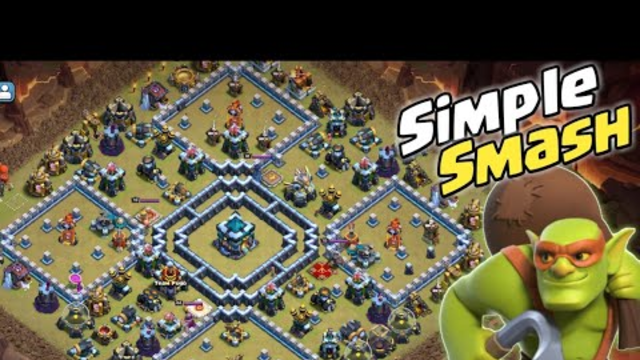 How to Three STAR TH13 POPULER ISLAND WAR BASE | Simple Smash in Clash Of Clans